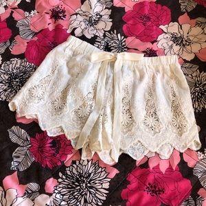 Solitaire Swim Lace Shorts Cream